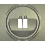 771400 - Лицевая панель для простой акустической розетки Legrand Galea Life, титан