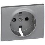 771321 - Лицевая панель для электрической розетки Legrand Galea Life с заземлением, с защитными шторками, немецкий стандарт, алюминий