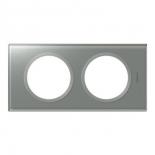 069342 - Рамка двухпостовая, Смальта металлик, Legrand Celiane