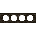 069024 - Рамка 4-постовая Legrand Celiane, прямоугольная, 313х83мм, Corian® (чёрный рифленый)
