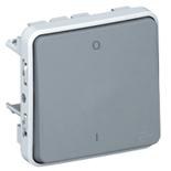 069530 - Выключатель двухполюсный IP55, Легран Плексо (серый)