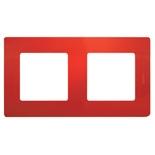 672532 - Рамка 2-х постовая Legrand Etika (красная)