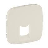 755416 - Лицевая панель для одиночных телефонных/информационных розеток Legrand Valena Allure (слоновая кость)