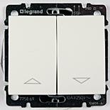 775804 + 777014 - Выключатель клавишный для управления жалюзи/рольставнями, Legrand Galea Life (белый)