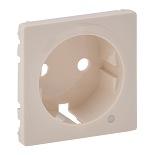 754851 - Лицевая панель для розетки 2К+З c линзой для подсветки/индикации Legrand Valena Life (слоновая кость)