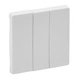 755030 - Лицевая панель для выключателя трехклавишного Legrand Valena Life (белая)