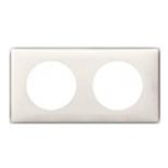 068692 - Рамка 2-постовая Legrand Celiane, 161×82мм, пластик (слоновая кость)