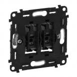 752005 - Механизм выключателя двухклавишного 10А 250В Legrand Valena INMATIC (безвинтовые зажимы)