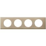 069114 - Рамка 4-постовая Legrand Celiane, прямоугольная, 313х82мм, металл (никель велюр)
