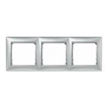770153 - Рамка 3 поста Легран Валена (алюминий)