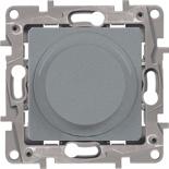 672419 - Светорегулятор (диммер) поворотный без нейтрали Legrand Etika, 300Вт (алюминий)