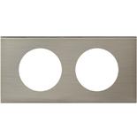 069102 - Рамка 2-постовая Legrand Celiane, прямоугольная, 171х82мм, металл (фактурная сталь)