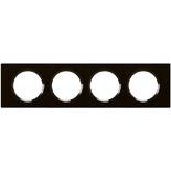 069304 - Рамка 4-постовая Legrand Celiane, 313х82мм, стекло (смальта графит)