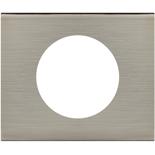 069101 - Рамка однопостовая Legrand Celiane, прямоугольная, 100х82мм, металл (фактурная сталь)