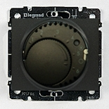 771219 + 775688 - Термостат для управления теплым полом до 16А, с датчиком температуры, Legrand Galea Life (Темная бронза)