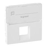 755470 - Лицевая панель для одиночных телефонных/информационных розеток с держателем маркировки Legrand Valena Life (белая)