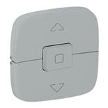 755147 - Лицевая панель для выключателя жалюзи и рольставней Legrand Valena Allure (алюминий)