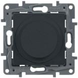 672619 - Светорегулятор (диммер) поворотный без нейтрали Legrand Etika, 300Вт (антрацит)