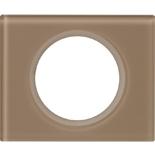 069461 - Рамка однопостовая Legrand Celiane, прямоугольная, 101х84мм, стекло (смальта мокка)