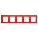 672535 - Рамка 5-ти постовая Legrand Etika (красная)
