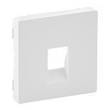 755360 - Лицевая панель для одиночной аудиорозетки с пружинными зажимами Legrand Valena Life (белая)
