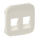 755376 - Лицевая панель для двойной аудиорозетки с пружинными зажимами Legrand Valena Allure (слоновая кость)